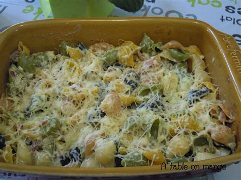 gratin de p 226 tes au mascarpone chignons lardons a table on mange