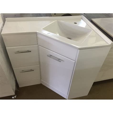 interior corner vanity units with basin bathroom