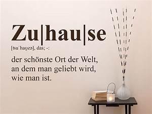 Zuhause Im Glück Jugendzimmer : wandtattoo zuhause definition 2 wandtattoo de ~ Markanthonyermac.com Haus und Dekorationen