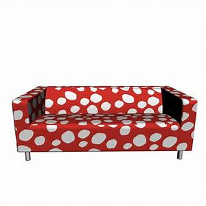 Ikea Sofa Bezug Klippan : klippan 2er sofa dottevik rot einrichten planen in 3d ~ Markanthonyermac.com Haus und Dekorationen