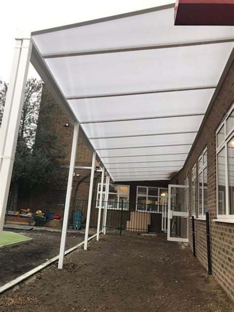 Dormer Well Infant School, Wall Mounted Canopy Able