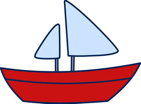 Red Boat Clipart by Cute Simple Sailboat Design Free Clip Art