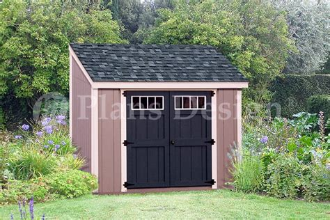 6 x 8 wooden storage garden deluxe lean to shed plans design d0608l