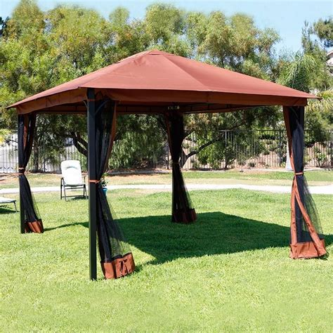 Mosquito Net Canopy For Outdoor Umbrella by 10 X 12 Patio Gazebo Canopy With Mosquito Netting