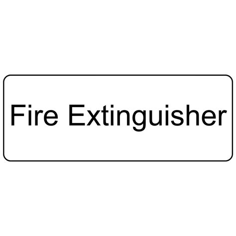 Fire Extinguisher Mounting Height Osha by Fire Extinguisher Engraved Sign Egre 345 Blkonwht Fire
