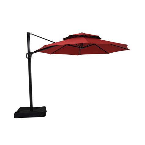 shop garden treasures offset patio umbrella common