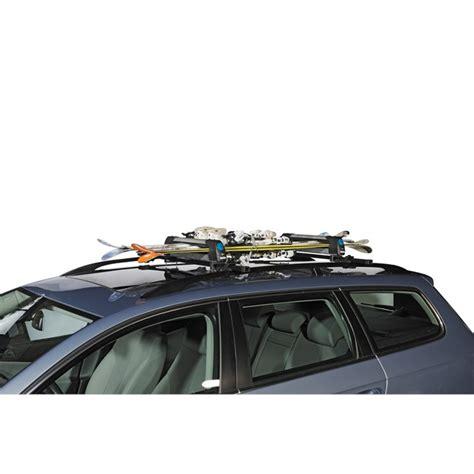porte skis sur barres de toit norauto alaska 400 pour 4 paires de skis ou 2 snowboards norauto fr