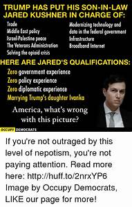 TRUMP HAS PUT HIS SON-IN-LAW JARED KUSHNER IN CHARGE OF ...