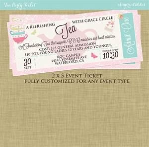 Mother's Day Tea Social Event Ticket Template Church ...