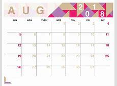 Calendar For August 2018 Business Calendar Templates