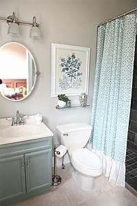 small bathroom makeovers Small Green Light Bathroom Makeover Elegant Design ...