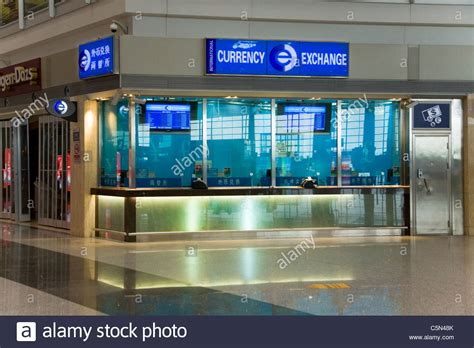 bureau de change office operated by international currency exchange stock photo royalty free