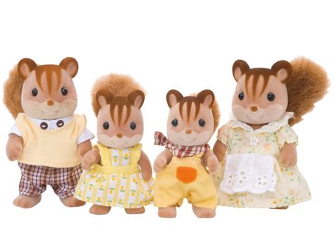 Sylvanian Families  Walnut Squirrel Family  My Kids Room