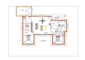 mod 232 les et plans de maisons gt mod 232 le de plain pied inspiration en u avec garage toit plat