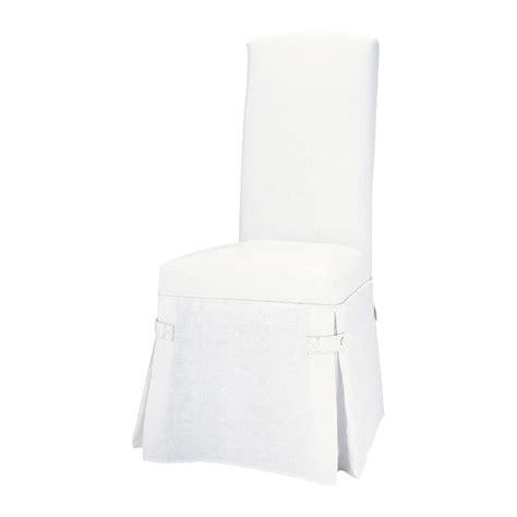housse de chaise blanc maisons du monde
