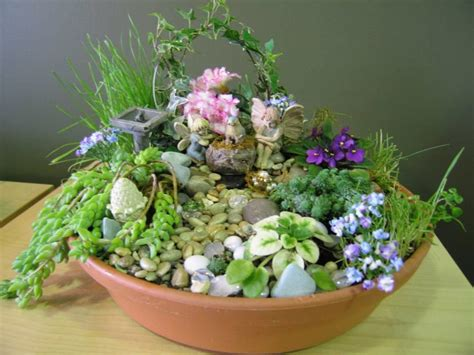 Dish Garden  Fairy Garden Pinterest