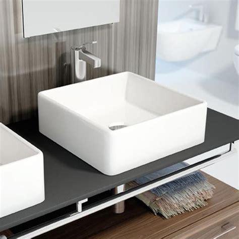 vasque 224 poser carr 233 e 38x38 cm c 233 ramique vigo