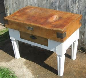 French Vintage Butchers Block, Kitchen Island  Antiques Atlas
