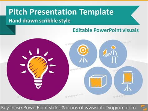 pitch presentation template scribble style
