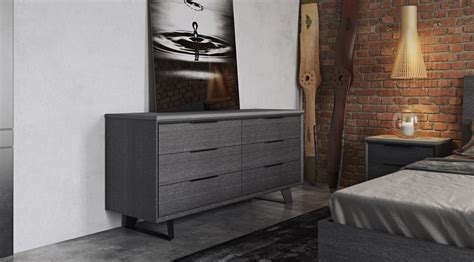 Urbano Gray Oak Contemporary Bedroom Dressers Kitchen Drawer Slides Hardware Samsung Washer And Dryer Bottom M S Cash Drawers Top Home Fashions Columbia Md Diy Unit 9 Basket Storage Omni Mirrored 3 Hall Chest Msa 4x4 Rear