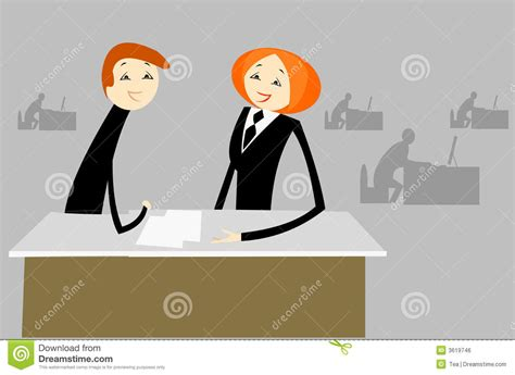 entretien dans le bureau image libre de droits image 3619746