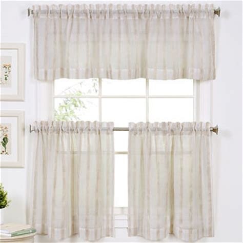 linen stripe rod pocket window treatments