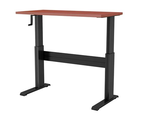 newheights vuelta manual crank sit to stand desk