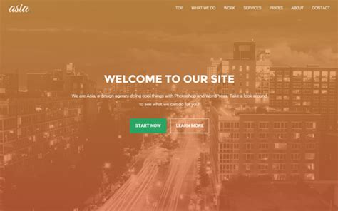 Bootstrap One Page Theme