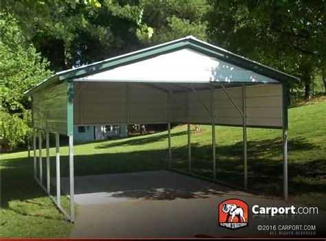 Single Car Carport 12'x21' With Vertical Roof  Shop Metal