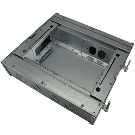 fsr fl 600p 3 b ul cul concrete floor box 3 quot 6x1 areas conference room av