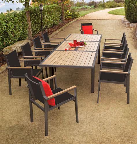table de jardin pvc imitation bois