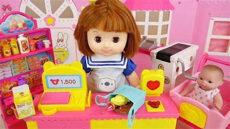 Baby Doli Mart Register And Baby Doll Food Toys Play