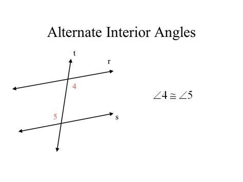 alternate interior angles theorem transversal and parallel lines ppt