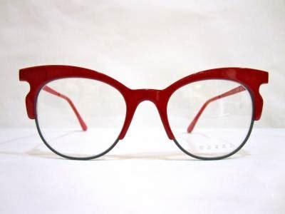 lunettes de vue originales marni rouges au paradis des lunettes