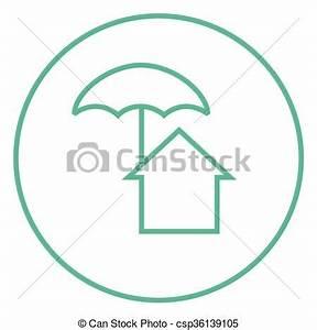 Icon Haus Preise : haus linie schirm icon unter schirm r nder vektor clipart suche illustration ~ Markanthonyermac.com Haus und Dekorationen