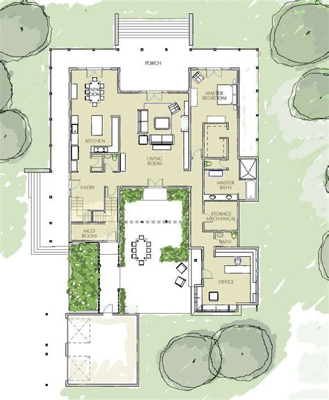 modern house plans with courtyard 17 best ideas about courtyard house on marcel