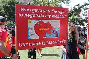 Macedonian-Australians rally to protest for Macedonia's ...