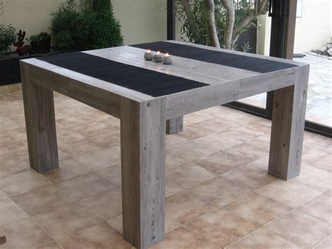 table a manger carree en imitation bois gr cultura