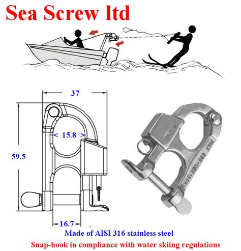 Speedboat Quick Draw by Speed Boat Ski Eyes Water Ski Pole In 316 Stainless