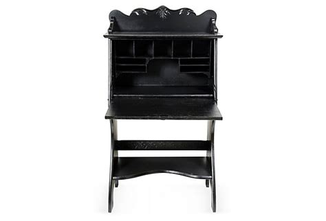 black drop front larkin desk