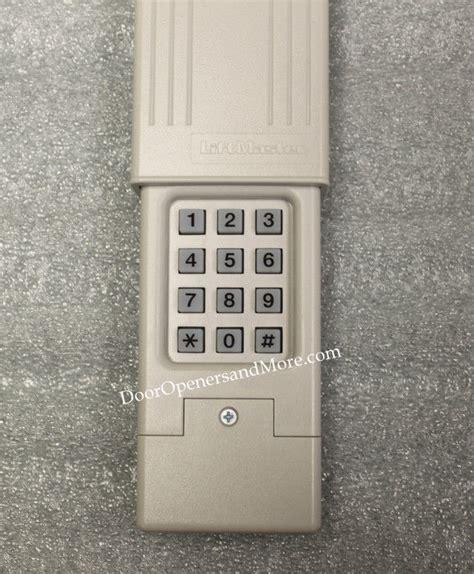 Program Garage Keypad Reset Genie Intellicode Wireless