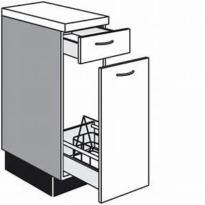 Küchen Unterschrank Auszug : unterschrank f r flaschen mit 1 auszug und 1 schubkasten ~ Markanthonyermac.com Haus und Dekorationen