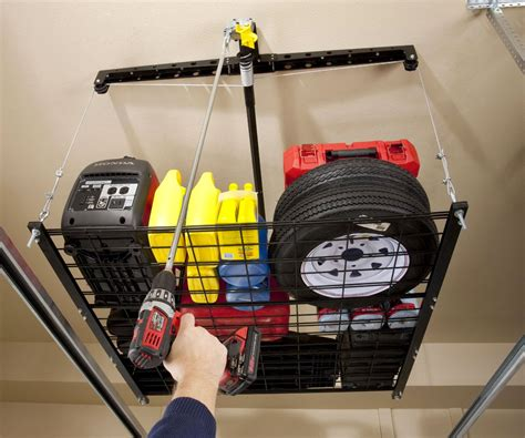 4 x 4 cable lifted storage rack dudeiwantthat
