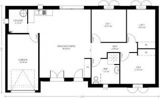 cuisine couleur maison construction le plan de maison plain pied plan maison plein pied 110m2