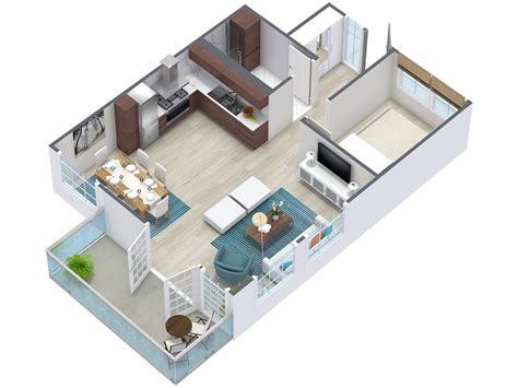 3d floor plan image 2 for the 1 bedroom studio floor plan 3d floor plans roomsketcher