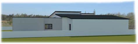 toit plat maison contemporaine suite parentale maison plain pied terrasse en bois