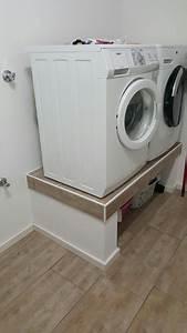 Regal Für Waschmaschine : podest f r waschmaschine und trockner im hwr waschk che pinterest waschmaschine und ~ Markanthonyermac.com Haus und Dekorationen