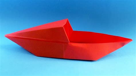 Origami Boat Video by How To Make A Paper Boat Origami Boat Youtube