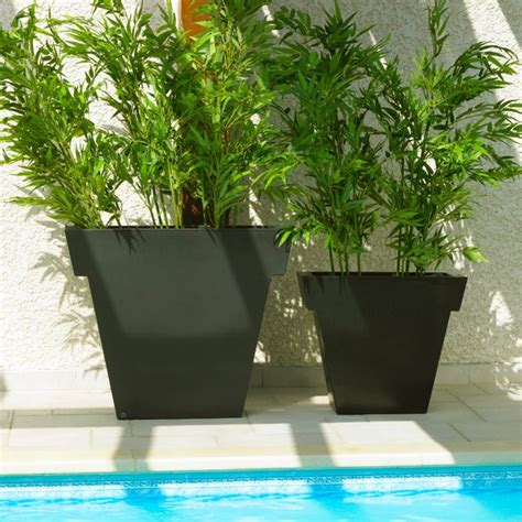 pot ext 233 rieur vaso black 55 cm la boutique desjoyaux