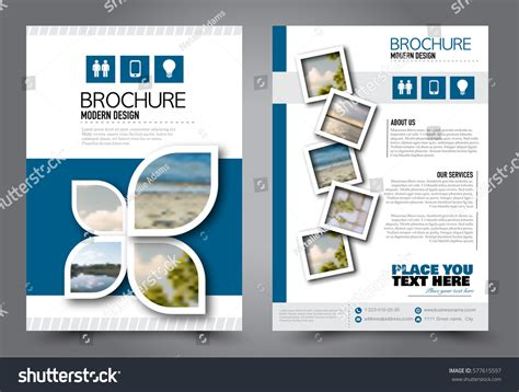 Flyer Design Business Brochure Template Annual Stock